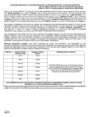 STANDARD DEFINITION STANDARD DEFINITION bb - DirecTV Fill