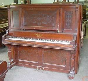 Chickering Mahogany Upright Piano – Antique Piano Shop