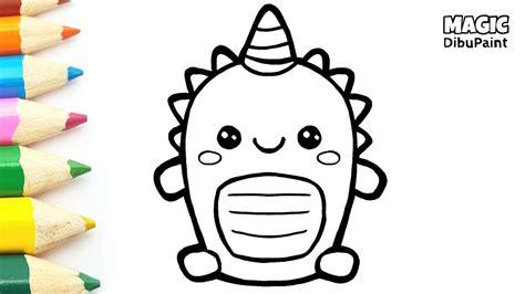 dibujos kawaii como dibujar dinosaurios faciles