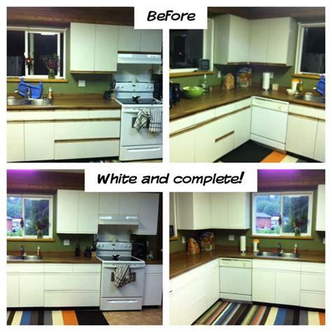 repurposed  melamine cabinets
