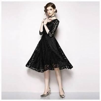 Lace Elegant Dresses Casual Ladies Short Woman