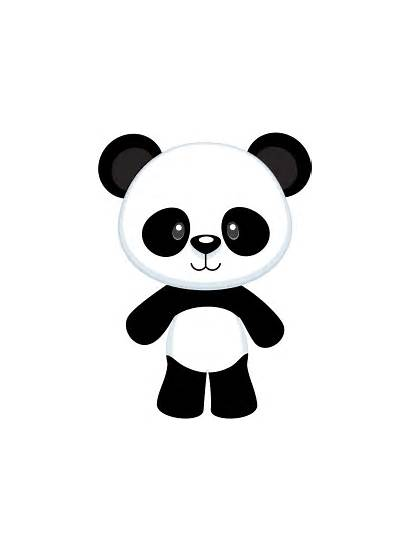 Panda Bear Clipart Cartoon Clip Pandas Happy