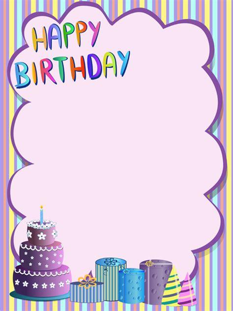 cute happy birthday greeting card vector