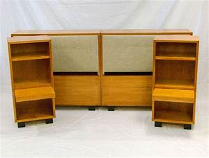 Mid century double twin or king size bed and two night for Bedroom furniture sets george
