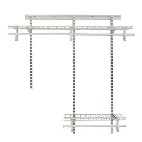 Closetmaid Parts List - closetmaid shelftrack 2 ft 4 ft white wire closet