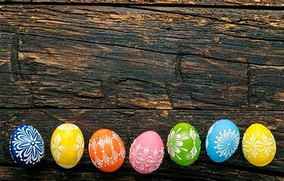 Easter Colorful Eggs Happy Wood Painted Holiday