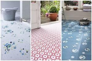 Dalle Pvc Adhesive Pour Cuisine : diy un sol graphique poser soi m me elephant in the room ~ Premium-room.com Idées de Décoration