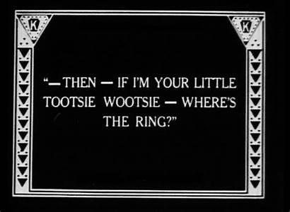 Silent Film Text Films Title Card Intertitle