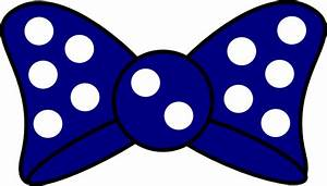 Minnie Blue Bow Clip Art at Clker.com - vector clip art ...