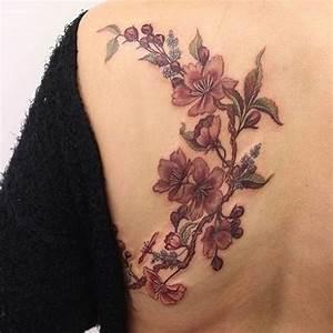 Tattoo Fleur De Cerisier : tatouages fleur de cerisier 130 mod les et leur signification ~ Melissatoandfro.com Idées de Décoration