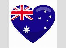 Australia heart flag Transparent PNG & SVG vector