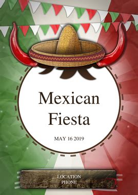 flyer mexican fiesta party flyer