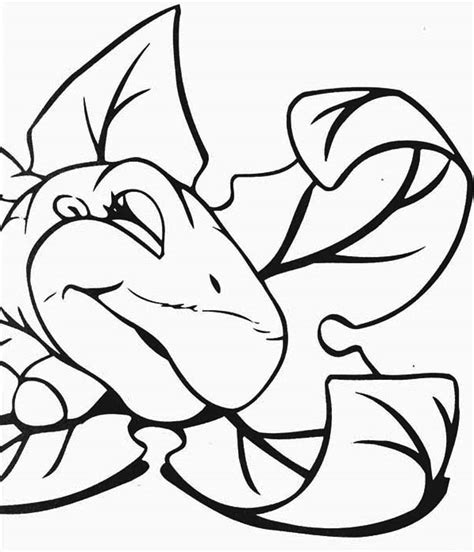 chomper land before time coloring pages