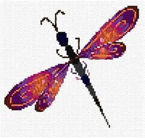 Free Dragonflies Cross Stitch Pattern