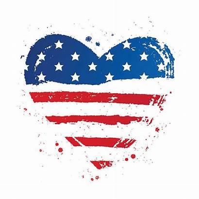 Flag Heart American Vector Shape Clip Vectors