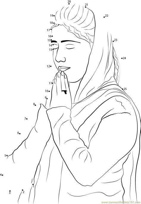woman praying  guru nanak jayanti dot  dot printable