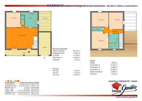 plan maison etage 2 chambres plan maison 80m2 3 chambres etage