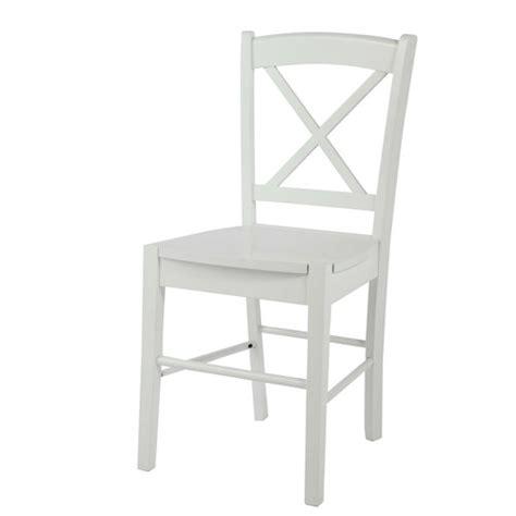 chaise blanche en bois chaise en hévéa blanche