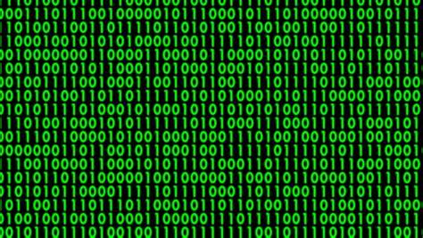 dynamic changed green binary characters  computer screen
