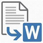 Word Export Icon Convert Processing Document Extension
