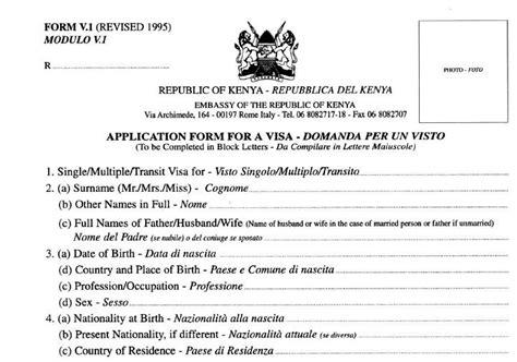 Visto Ingresso Kenya by Visti E Permessi Watamukenya Net Il Portale Italiano