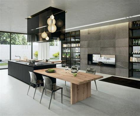 ilot de cuisine avec table la cuisine 233 quip 233 e avec 238 lot central 66 id 233 es en photos