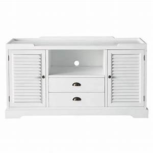 meuble tv en bois blanc l 140 cm barbade maisons du monde With superb meuble style maison du monde 5 meuble tv design industriel
