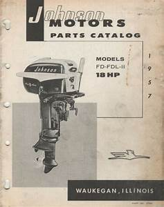 1957 Johnson Outboard 18 Hp Fd N