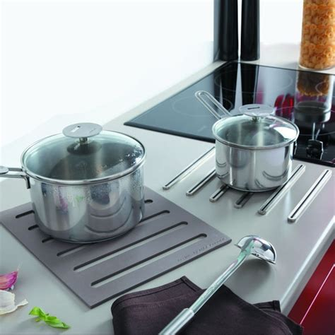 accessoir de cuisine repose casserole design dessous de plat 2 en 1 en silicone