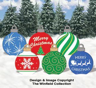 christmas large ornaments  woodcraft pattern