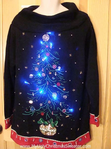 80s light up sweater bead bling tree
