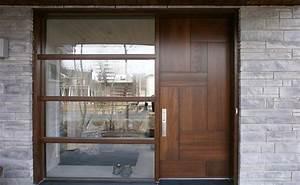 Porte D Entrée En Bois Moderne : portes bourassa porte d 39 entr e en bois style moderne 053 ~ Nature-et-papiers.com Idées de Décoration