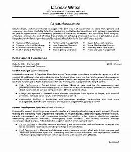 Retail business resume