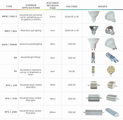 Types Base Bulb Halogen Replacements