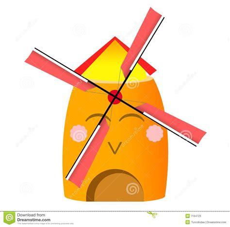 funny holland windmill stock vector illustration  wind