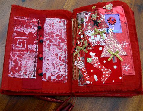 linsart red art journal mixed media book