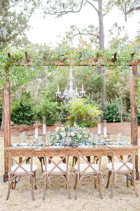 Greenery Dusty Blue And Gold Spring Wedding Inspiration