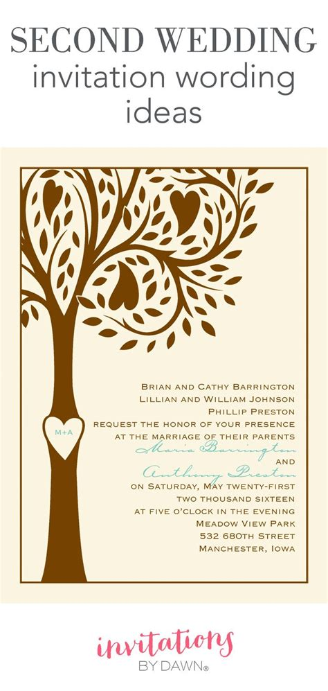 Second wedding invitation wording might seem like a tricky