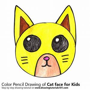 Step, By, Step, How, To, Draw, A, Cat, Face, For, Kids, Drawingtutorials101, Com