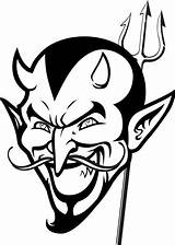 Devil Coloring Pages Demon Halloween Printable Satan Face Colouring Scary Drawing Looking Evil Diablo Boy Tattoo Mpmschoolsupplies Sheets Easy Angel sketch template