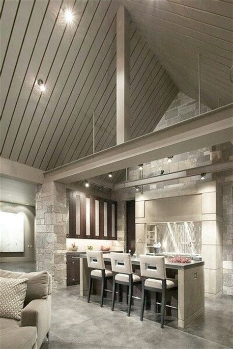 cathedral ceiling grey lighting home to home pinterest