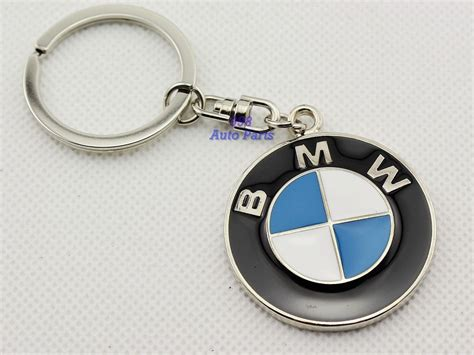 Key Chain Metal Single Side Keychain Key Ring Bmw Logo