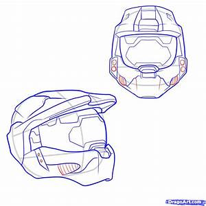 How to Draw a Halo Helmet, Step by Step, Video Game ...