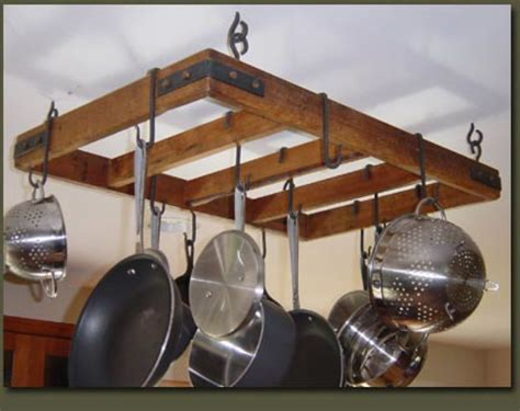 How To Install A Hanging Pot Rack by Rustic Country Primitive Hanging Pot Rack Flickr Photo