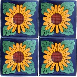 Sunflower Talavera Mexican Tile