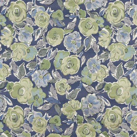 blue upholstery fabric blue green and white floral contemporary upholstery