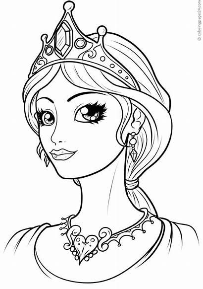 Colorare Disegni Queen Principesse Coloring Princesas Prinsessa