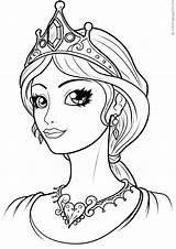 Coloring Queen Pages Printable Books sketch template