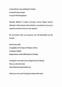 Hyundai R210 Lc 3 Crawler Excavator Service Repair Factory