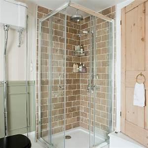 Bathroom with corner shower enclosure small space for Shower cubicles for small bathrooms uk